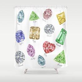 Gems pattern Shower Curtain
