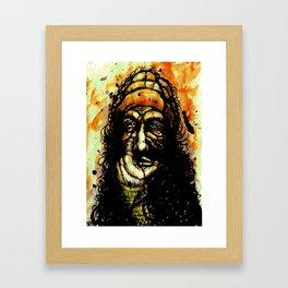 The oil curse Framed Art Print