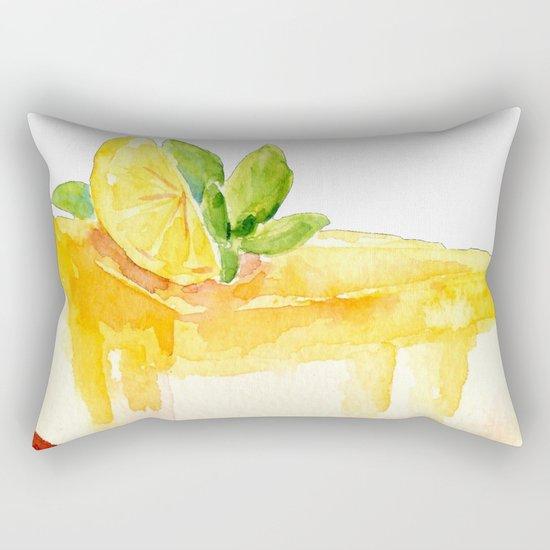 Lemon Cake Rectangular Pillow