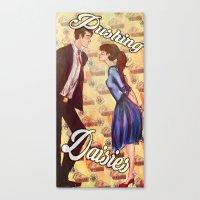 pushing daisies Canvas Prints featuring Pushing Daisies  by Marlo Musa