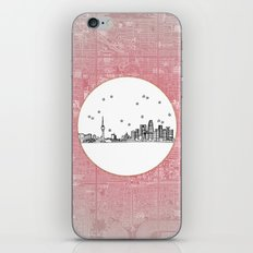 Beijing, China City Skyline Illustration Drawing iPhone & iPod Skin
