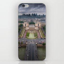 Storm approaching over Paris iPhone Skin