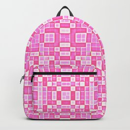 Pink Pixel Pattern Backpack