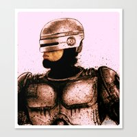 robocop Canvas Prints featuring ROBOCOP by Jef2D