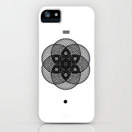 Mesh Geometry II White iPhone Case