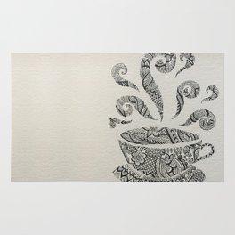 But first, Tea - tea coffee lover zentangle Rug