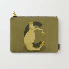 Pony Monogram Letter C Carry-All Pouch