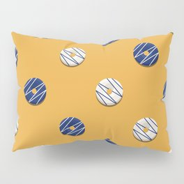 White & Blue Pillow Sham
