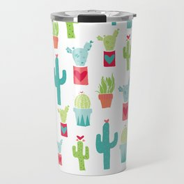 XOXO Cactus Valentine Love Pattern Travel Mug