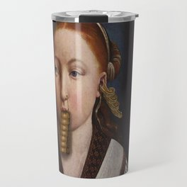 Young Lady With Egress  Travel Mug