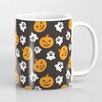 halloween Mugs featuring Halloween by cat&wolf