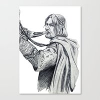 gondor Canvas Prints featuring The Horn of Gondor by Christine Margeson