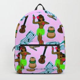 Hawaii Pattern #2 in Pink Backpack
