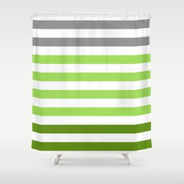 Stripes Gradient - Green Shower Curtain