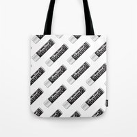 lesbian Tote Bags featuring CHAPSTICK LESBIAN by Studio 566 / Penny Collins
