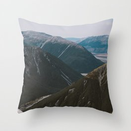 View from Avalanche Peak Throw Pillow