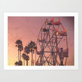 Sunset Carnivals Art Print