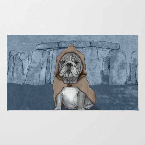 English Bulldog in Stonehenge Rug