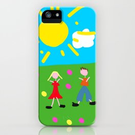 Kiddy Doodle Dandy iPhone Case