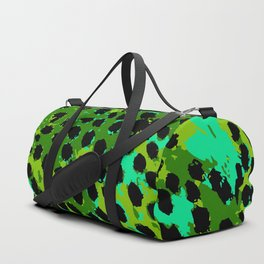 Cheetah Spots in Green and Blue Duffle Bag