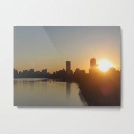 Boston Wakes Metal Print