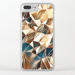 Abstract Polygon,Cubism,Low Poly,Triangle Design Clear iPhone Case