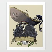 monkey island Art Prints featuring Le Chuck from Monkey Island by Sara E. Snodgrass