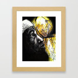 Basketballer LBJ Framed Art Print