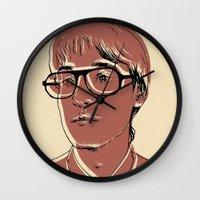 patrick Wall Clocks featuring Patrick (STRFKR) by Luis Patino