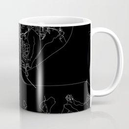 Mumbai Black Map Coffee Mug