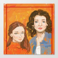 gilmore girls Canvas Prints featuring Oh, To Be A Gilmore  by Sarah Mary Street