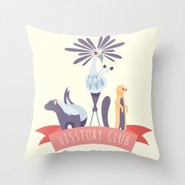 Hisstory Club Throw Pillow