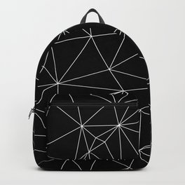 Geometric Black and White Minimalist Pattern Backpack