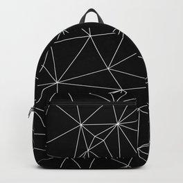 Geometric Black and White Minimalist Pattern Backpack