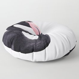 BLACK FLAMINGO Floor Pillow