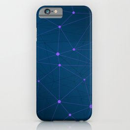 High-tech Polygonal Network Abstract Modern Art iPhone Case