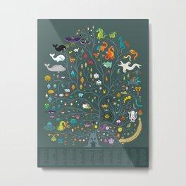 Magna Arbor Vitae Deku - Legend of Zelda Cladogram Metal Print