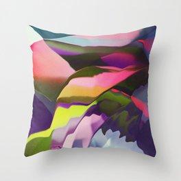 Growing colors Throw Pillow