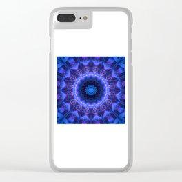 Cold Fire Mandala Clear iPhone Case