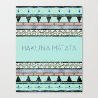 hakuna Canvas Prints featuring Hakuna Matata by Lala Vicencio