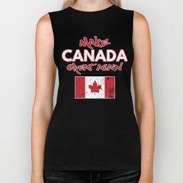 Make Canada Great Again Funny Canadian Flag MCGA Biker Tank