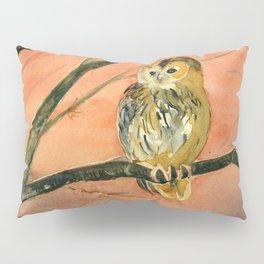 Colorful Owl Art Pillow Sham