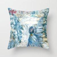 cardinal Throw Pillows featuring Cardinal by Spinning Daydreams