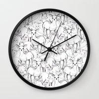 woodland Wall Clocks featuring Woodland by Lydia Meiying