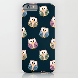 Cute Owls Dark Theme -  Hooting and Rooting iPhone Case