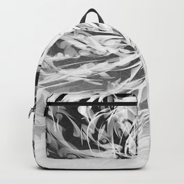 B&W Abstract Spiral Backpack