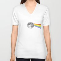 dark side of the moon V-neck T-shirts featuring Dark Side of the Moon. by Nick Nelson