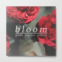 bloom again Metal Print
