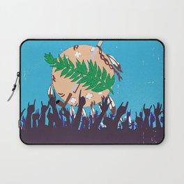 Oklahoma State Flag with Audience Laptop Sleeve