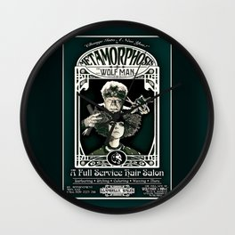 Metamorphosis by The Wolf Man: A Full Service Hair Salon (Vintage) Wall Clock